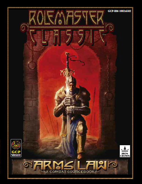 Rolemaster Classic Arms Law cover