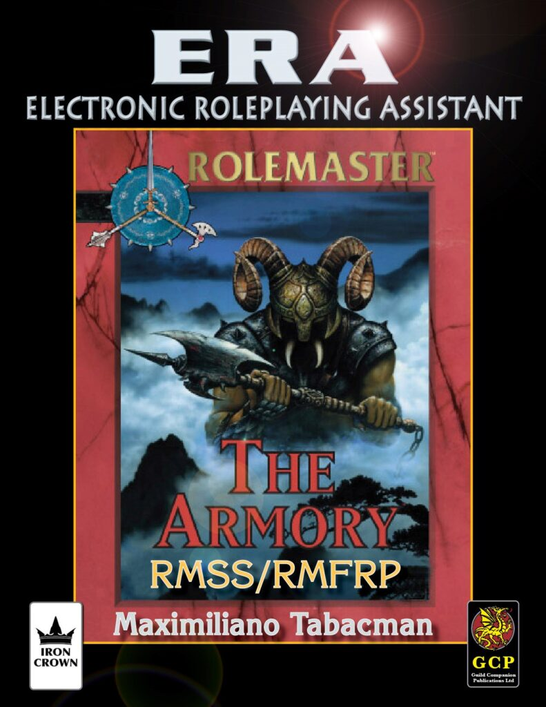 ERA for Rolemaster Armory for Rolemaster Fantasy Role Playing