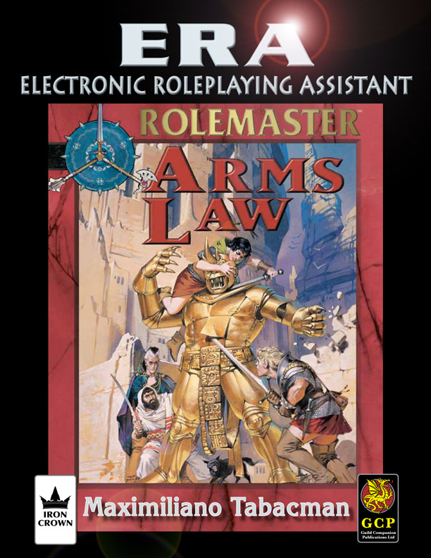ERA for Rolemaster Arms Law for Rolemaster Fantasy Role Playing cover