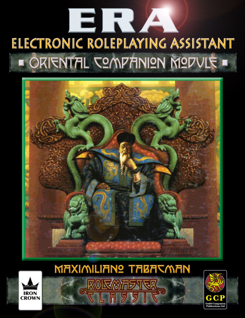 ERA for Rolemaster Oriental Companion for RMC cover