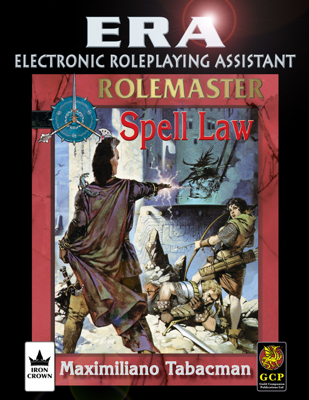 ERA for Rolemaster Spell Law for Rolemaster Fantasy Role Playing cover