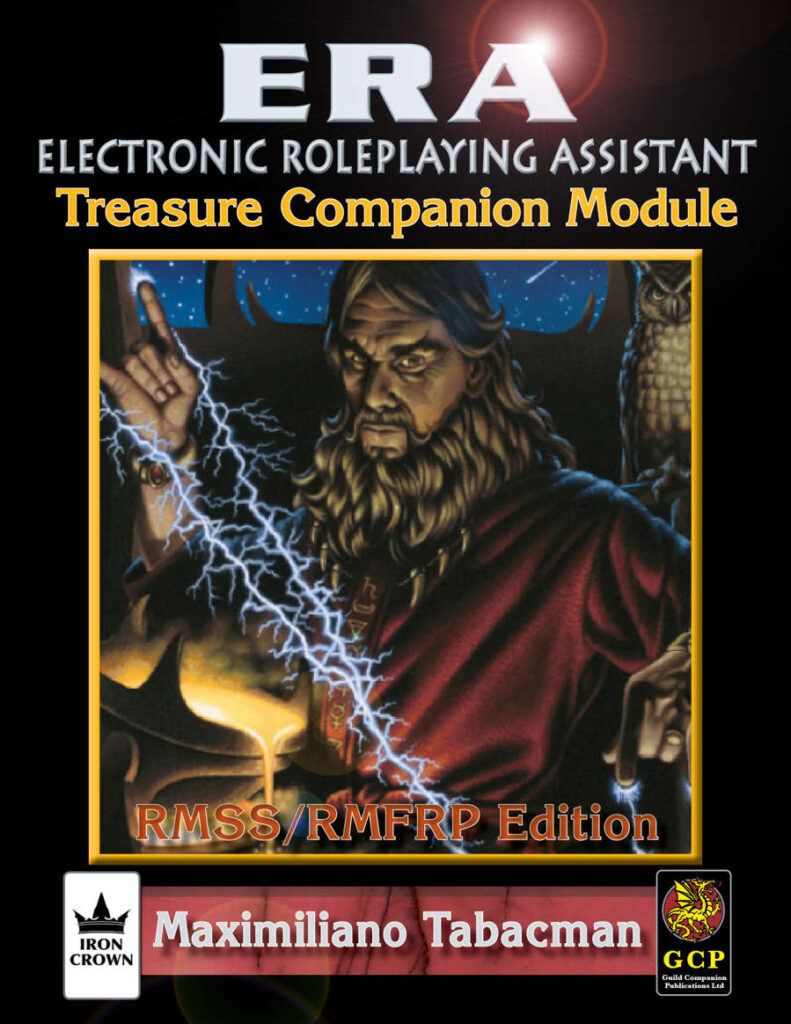 ERA for Rolemaster Treasure Companion for Rolemaster Fantasy Role Playing cover