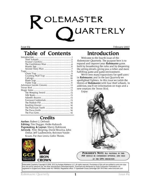 Rolemaster Quarterly 4 Image