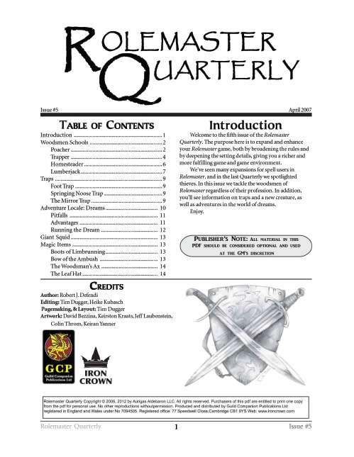 Rolemaster Quarterly 5
