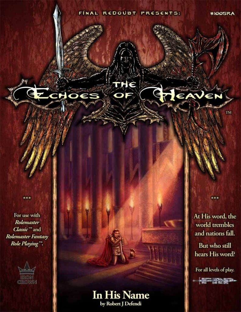 In his name - Echoes of heaven campaign setting cover