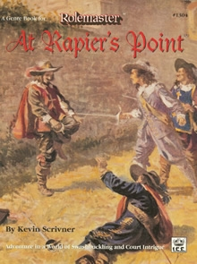 At rapiers point for Rolemaster cover
