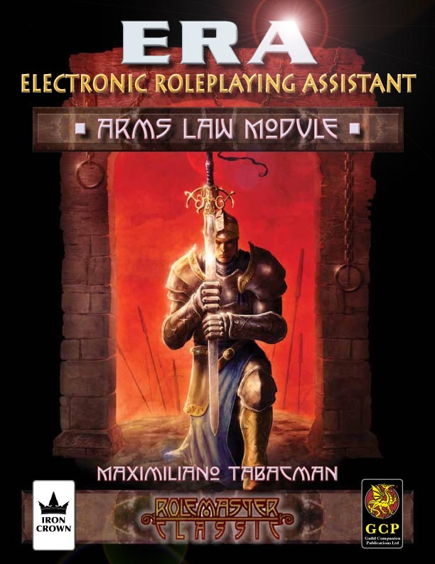 ERA for Rolemaster Arms Law for Rolemaster Classic esupport database