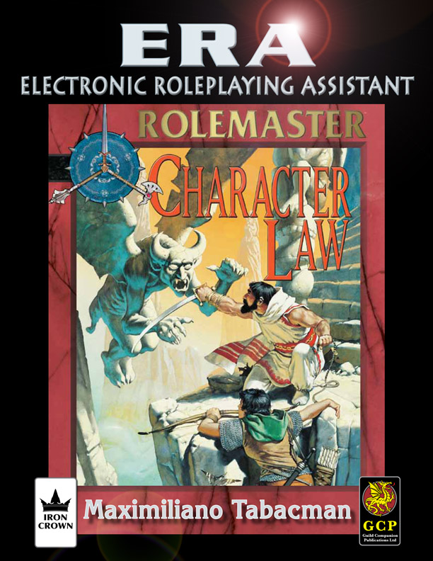 ERA for Rolemaster core and character law for Rolemaster Fantasy Role Playing cover