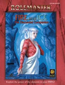 Fire and ice elemental companion for Rolemaster Fantasy Role Playing cover