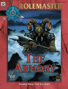 The armory for Rolemaster Fantasy Role Playing cover