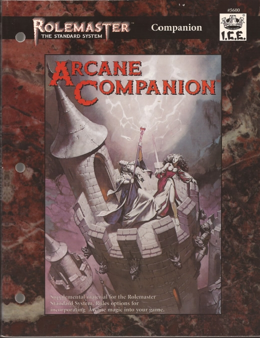 Arcane Companion for Rolemaster Standard System cover