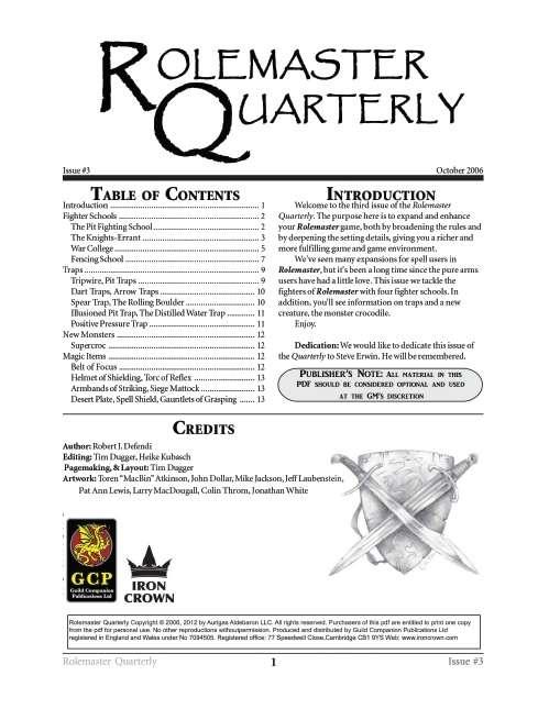 Rolemaster Quarterly 3