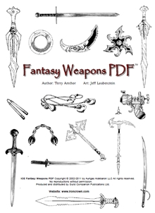 Rolemaster Fantasy Weapons