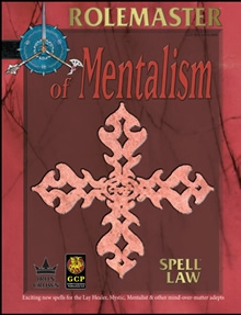 Spell Law of Mentalism for Rolemaster Fantasy Role Playing